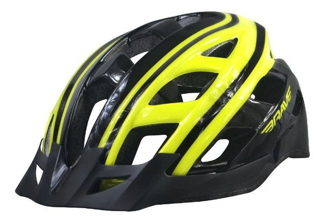 Capacete Ciclismo Brave S-282 Sinalizador C Led Amarelo Preto Tam G
