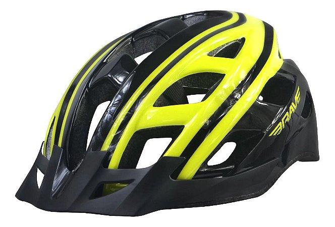Capacete Ciclismo Brave S-282 Amarelo Preto Bike Regulagem Tam G