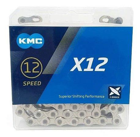 Corrente Kmc X12 Prata 126 Elos Sram Shimano 12v Original