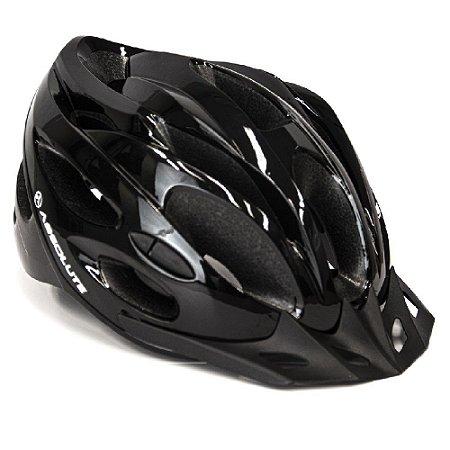 Capacete Absolute Nero Preto Ciclismo Led Sinalizador Tam 54-57cm