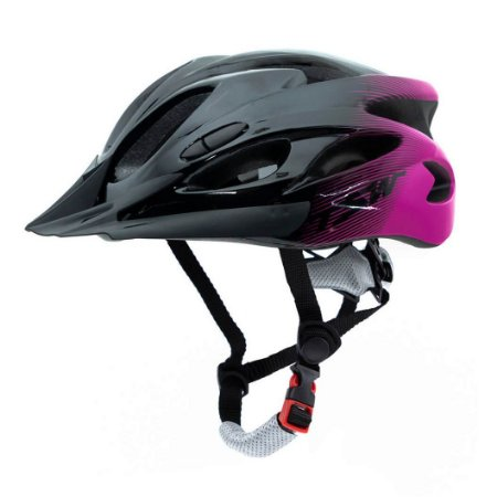 Capacete Tsw Raptor Com LED Preto Pink Cinza Ciclismo Mtb Xc