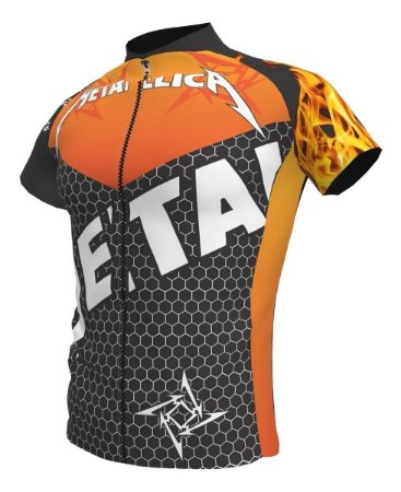 Camisa Ciclismo Bike Banda Rock Metalica Ziper Total Bolsos