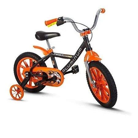 Bicicleta Aro 14 First Pro Preta Masculina Alumínio -Nathor