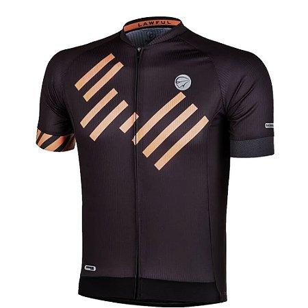 Camisa Ciclismo Mauro Ribeiro Masculina Lawful Cinza/Laranja Bike - M