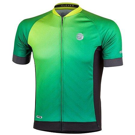 Camisa Ciclismo Masculina Mauro Ribeiro Clever Verde Bike Mtb Speed - GG