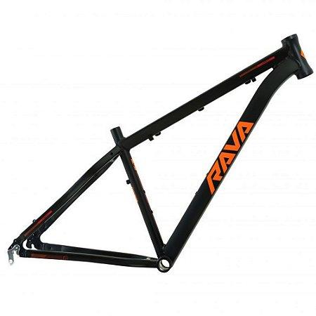 Quadro Aro 29 Bike Mtb Rava Pressure 19 Preto/Laranja