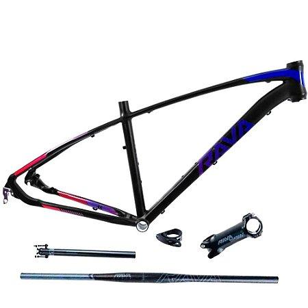 Quadro Bicicleta Bike Mtb Rava Storm Aro 29 + Kit - 15.5