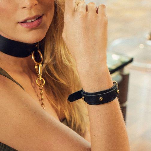 Algemas braceletes em couro - myrina - secret play