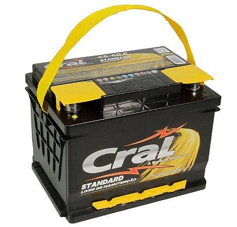 Bateria Cral 60Ah CS60D/CS60E - Linha Standard.