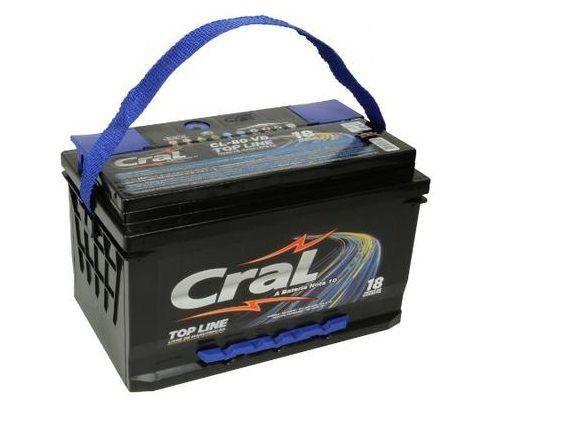 Bateria Cral 70Ah CL70VD/CL70VE - Linha Top Line