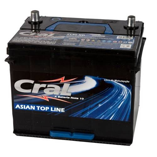Bateria Cral 80Ah CL80ND/CL80NE - Linha Top Line (Cx. Alta)