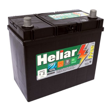 Bateria Heliar 50Ah – HG50JD – Original de Montadora (Cx. Alta)