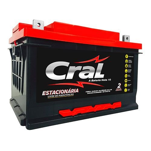 Bateria Cral Estacionária 60aH 12CE60