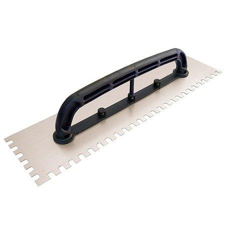 Desempenadeira aço dentada 48x12cm