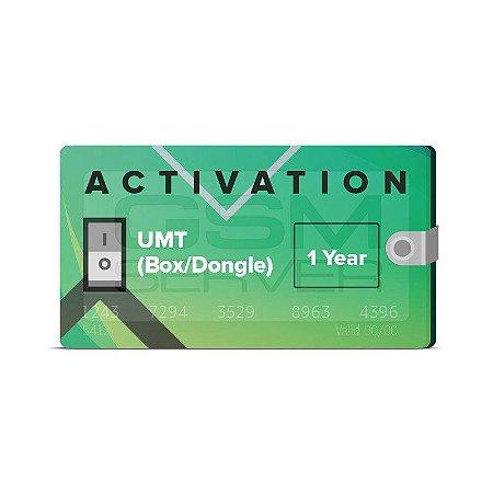 Ativação UMT Box / Dongle (12 Meses de Atualizações do Fabricante)