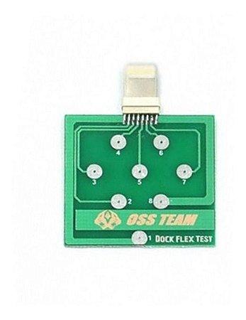 Placa de Teste Dock Flex para Diagnostico Tristar U2 e Conetores de Iphone