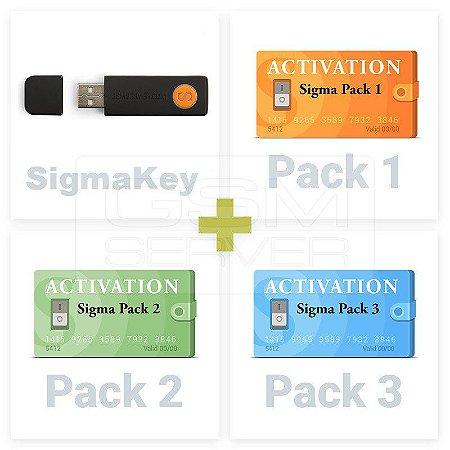 Sigma Key Ativada com PACK 1,2 & 3 + 30 Dias de Suporte Técnico Online