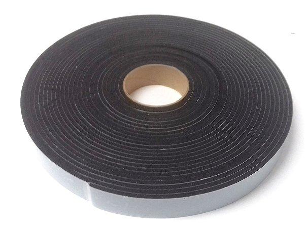 Fita de Vedação em Espuma de PVC Preto - 4mm x 25mm x 10m