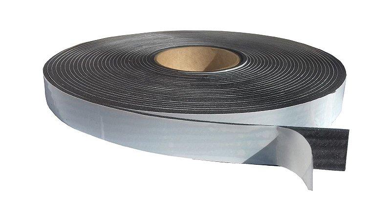 Fita de Vedação em Espuma de EPDM Preto - 3mm x 25mm x 10m