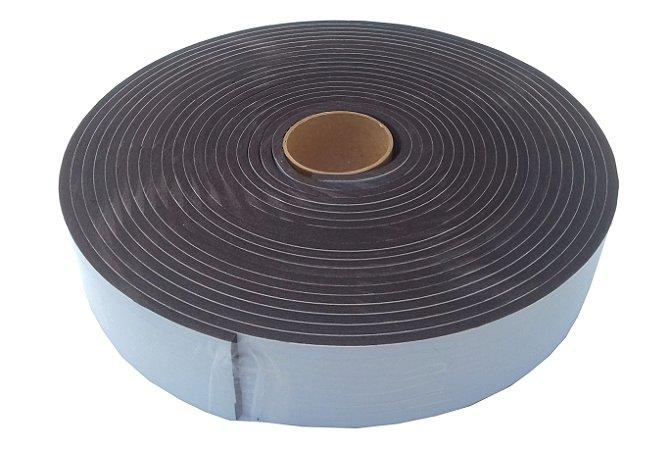 Fita de Vedação em Espuma de EPDM Preto - 5mm x 50mm x 10m