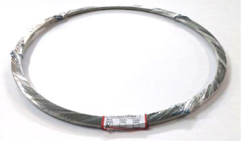 Fita de Níquel-Cromo (NiCr-80/20) - Faca quente Borda Reta - 1 mm X 5 mm X 2 m