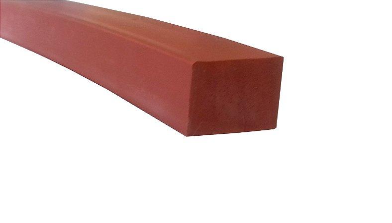 Perfil de Silicone 70 Shore A 15x20mm na cor Verm. Óxido 300 ºC - M