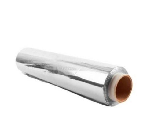Bobina De Folha De Alumínio 60cm Largura X 0,05mm X 12 Mts