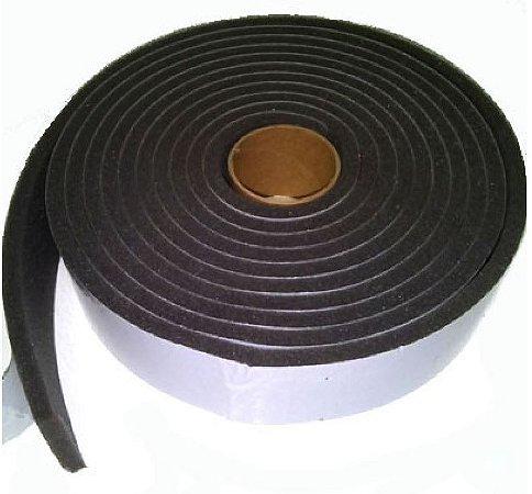 Fita de Vedação em Espuma de PVC Preto - 4mm x 50mm x 10m