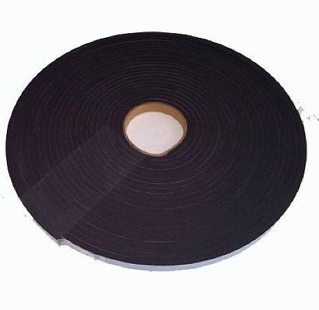 Fita de Vedação em Espuma de Neoprene Preto - 3mm x 30mm x 10m