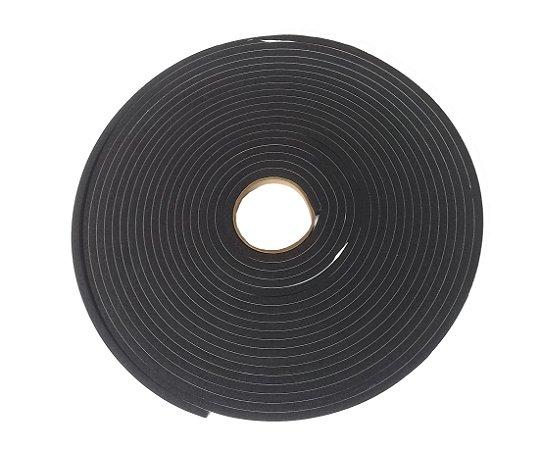 Fita de Vedação em Espuma de EPDM Preto Adesivo 2 lados - 4mm x 10mm x 10m
