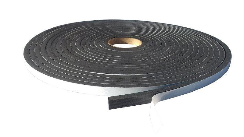 Fita de Vedação em Espuma de EPDM Preto - 7mm x 10mm x 10m