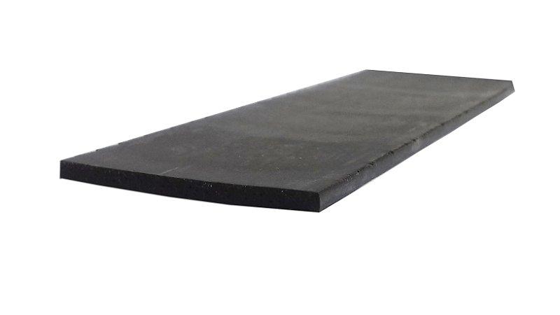 Perfil de Silicone  Esponjoso 30 Shore A 3x45mm na cor Preto  240 ºC - M