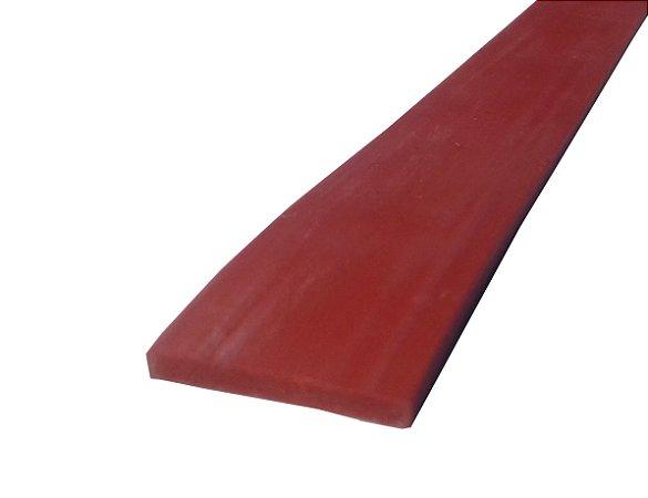 Perfil de Silicone 70 Shore A 3x22mm na cor Verm. Óxido 300 ºC   - M