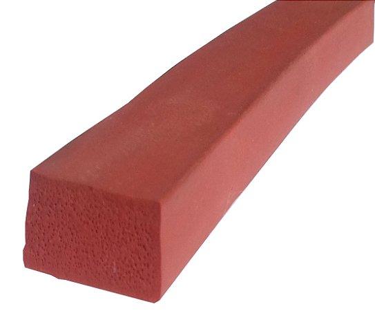 Perfil de Silicone  Esponjoso 30 Shore A 12x25mm na cor Verm. Telha   240 ºC - M