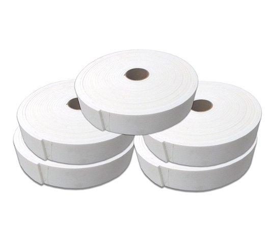 Fita de Vedação em EVA Branco - 5mm x 50mm x 10m - Kit com 5