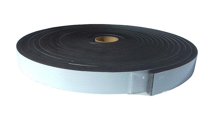 Fita de Vedação em Espuma de EPDM Preto - 10mm x 30mm x 10m