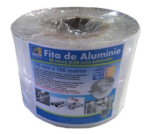 Fita de Alumínio com adesivo - 50 micra x 125 mm x 50 metros