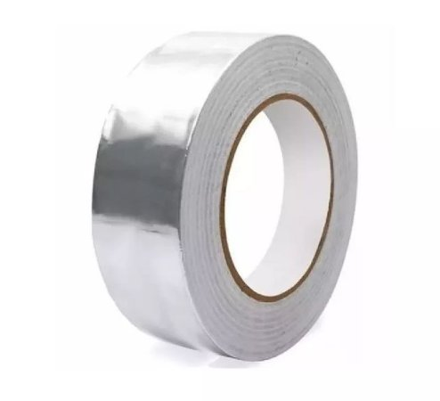 Fita de Alumínio com adesivo - 50 micra x 75 mm x 30 metros