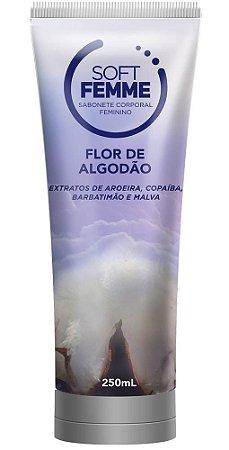 SOFT FEMME FLOR DE ALGODÃO SABONETE CORPORAL FEMININO 250mL