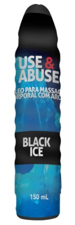 USE & ABUSE BLACK ICE ÓLEO PARA MASSAGEM CORPORAL COM AROMA 150mL