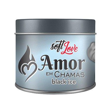 AMOR EM CHAMAS BLACK ICE VELA AROMÁTICA 50g