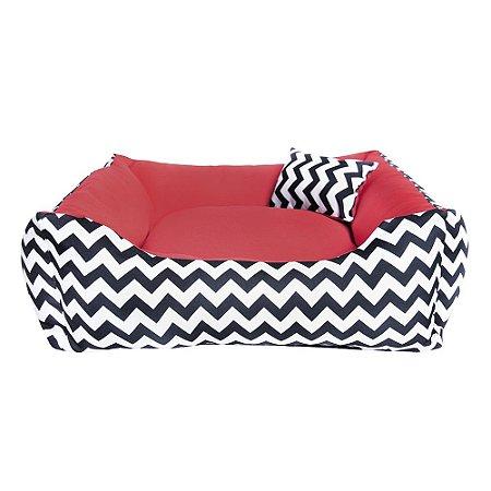 Cama para Cachorro ou Gato -100% lavável -60x60 Bed Vermelha