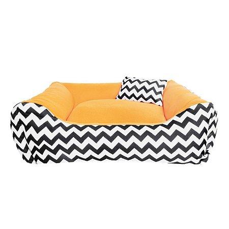 Cama para Cachorro ou Gato - 100% lavável -60x60 Bed Orange