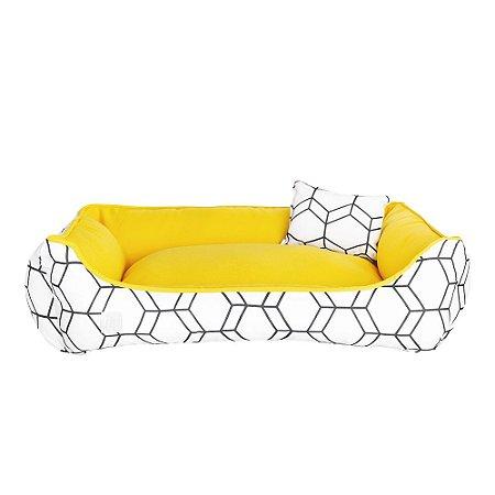 Cama Pet Premium 40x60 Geométrica Amarelo