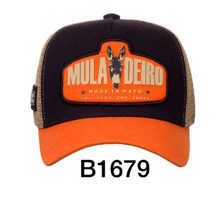 Boné Trucker Muladeiro B1679 - Made In Mato