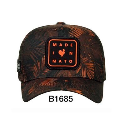 Boné Trucker Folhagem Gold B1685 - Made In Mato