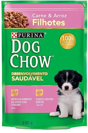 Dog Chow Sachê Filhote Carne & Arroz
