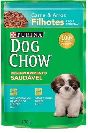 Dog Chow Sachê Pet Filhote Raças Pequenas Carne & Arroz