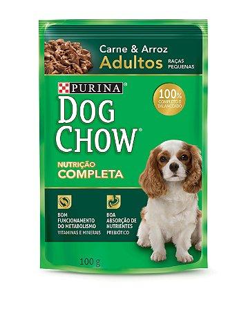 Dog Chow Sachê Ad Raças Pequenas Carne & Arroz 100gr