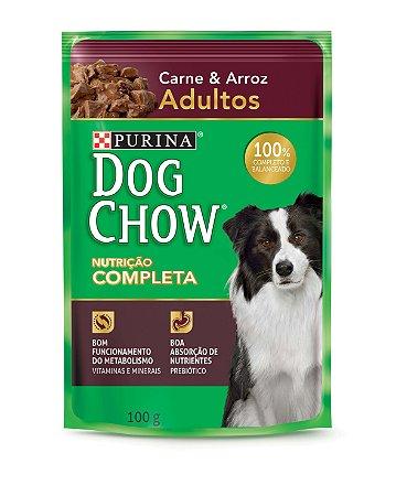 Dog Chow Sachê Ad Carne & Arroz 100gr